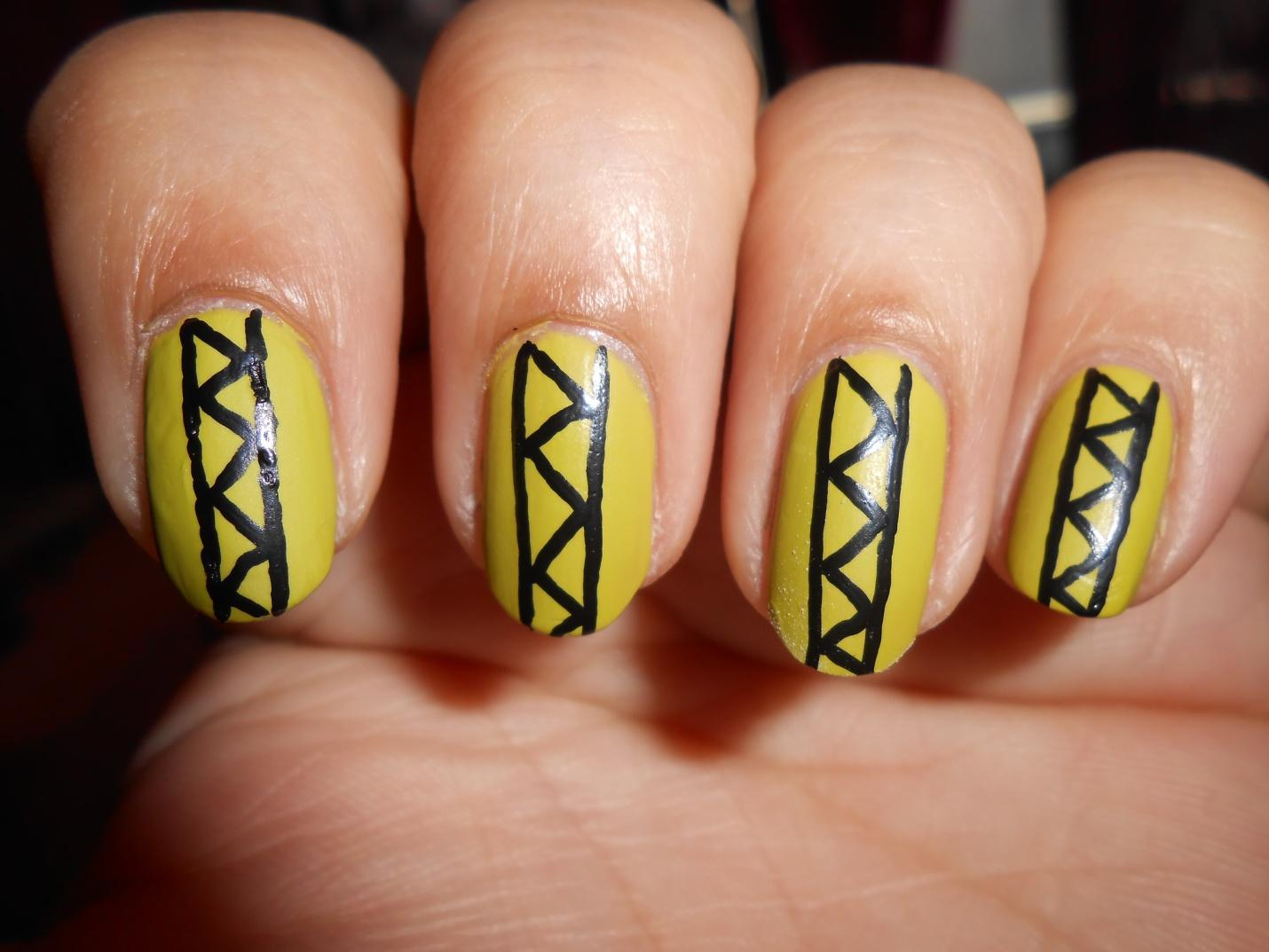 Manicure Addict Guest Post Tribal Nail Art Tutorial