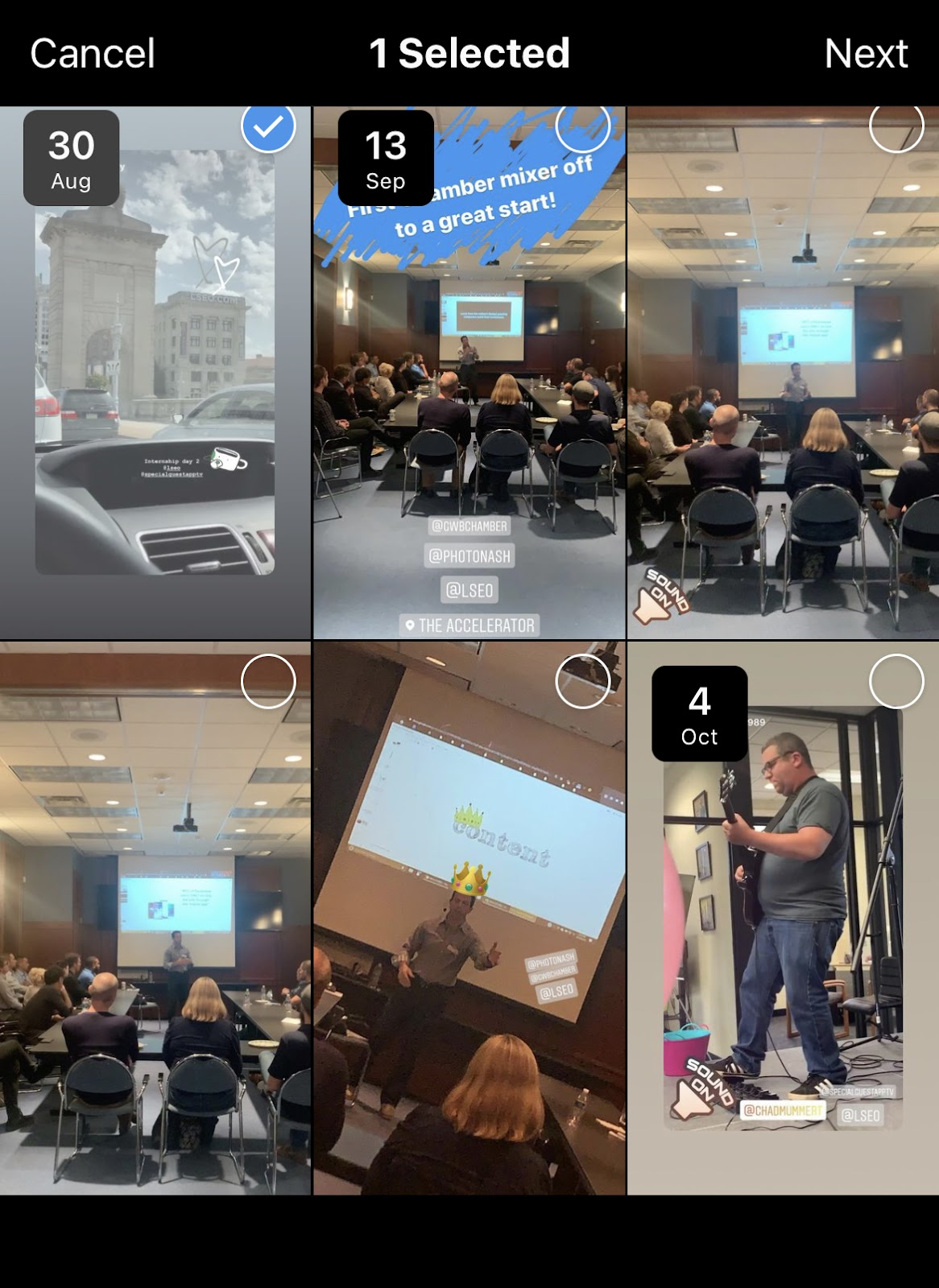 Examples Of LSEO's Instagram Story Archives