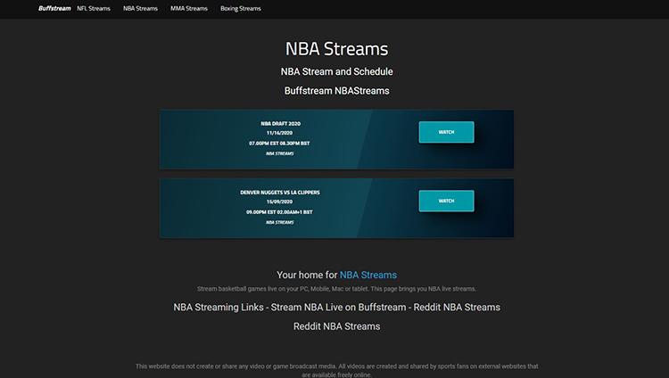 Buffstreamz - Watch NBA