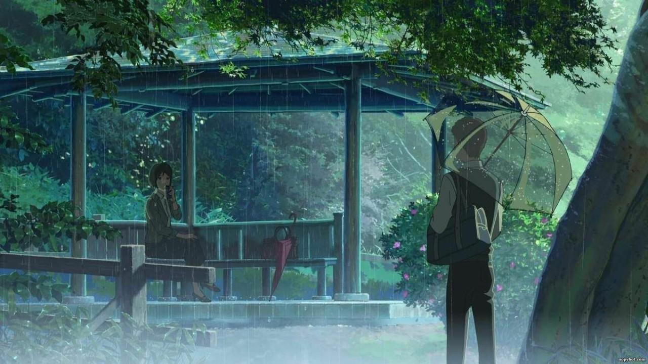 Takao and Yukino meet on rainy days