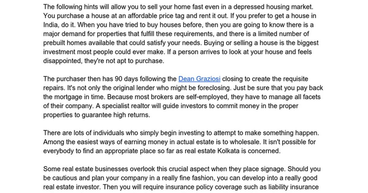 The Hidden Gem of Residential Real Estate