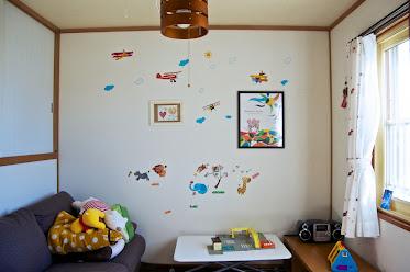 ご主人のコーティネートによる子供部屋