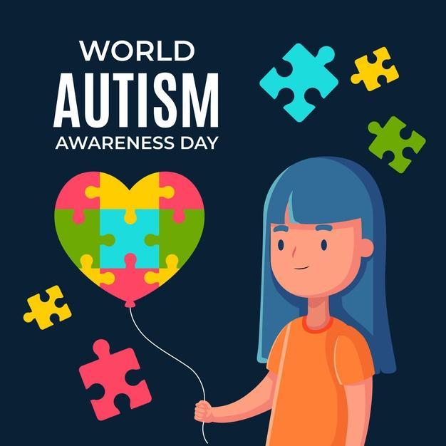 Płaski światowy dzień świadomości autyzmu Darmowych Wektorów