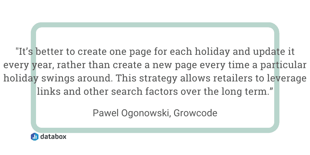 Cash in on holiday-themed category pages