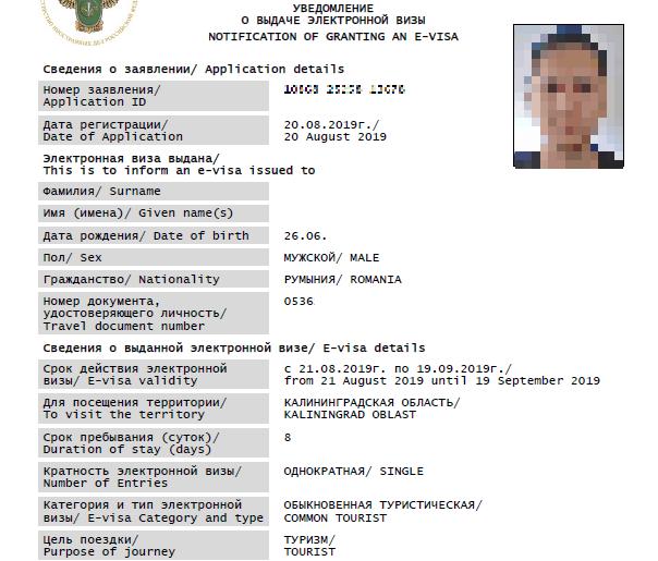 Russian E-visa