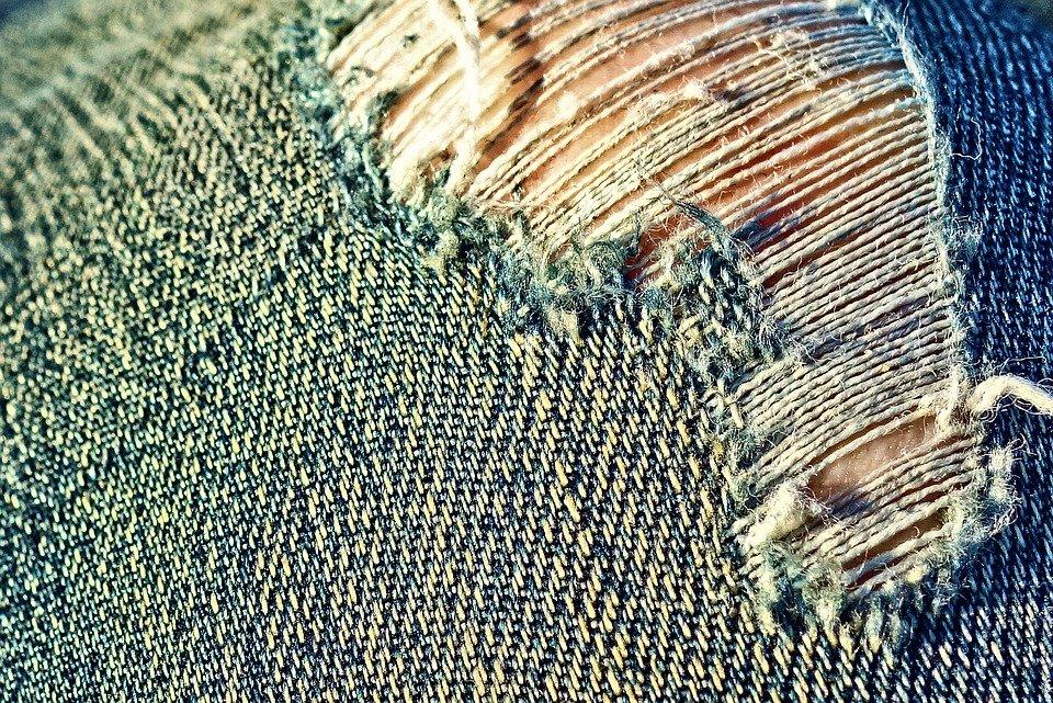 Jeans, Denim, Fabric, Torn, Frayed, Fashion, Distressed