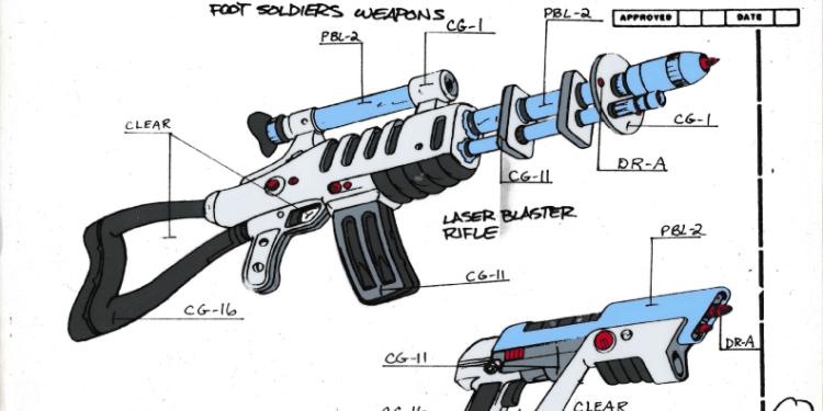 Image result for TMNT Shredder laser rifle