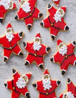 Image result for christmas cookie star santas