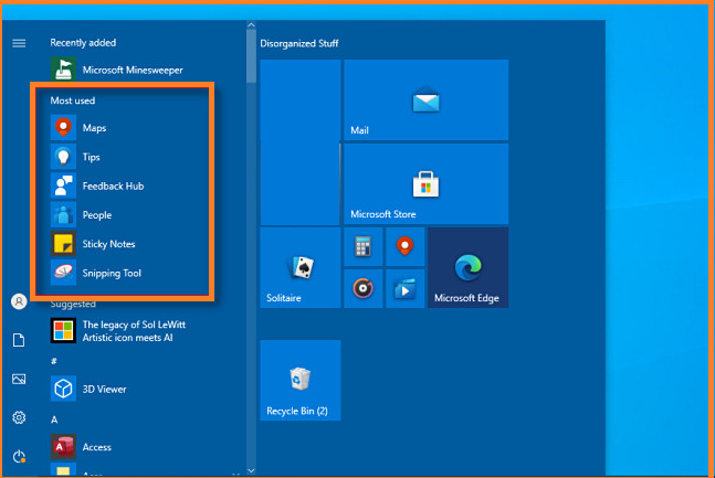 How to Hide Most Used Apps from the Start Menu