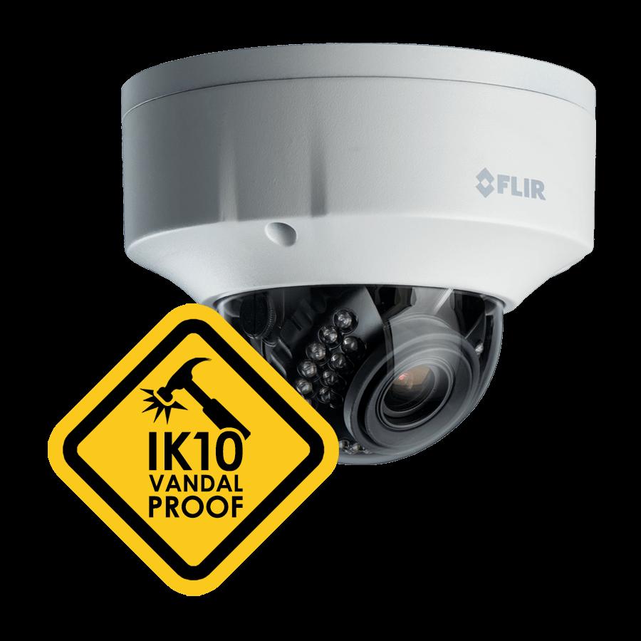 IK10 vandal-proof security camera