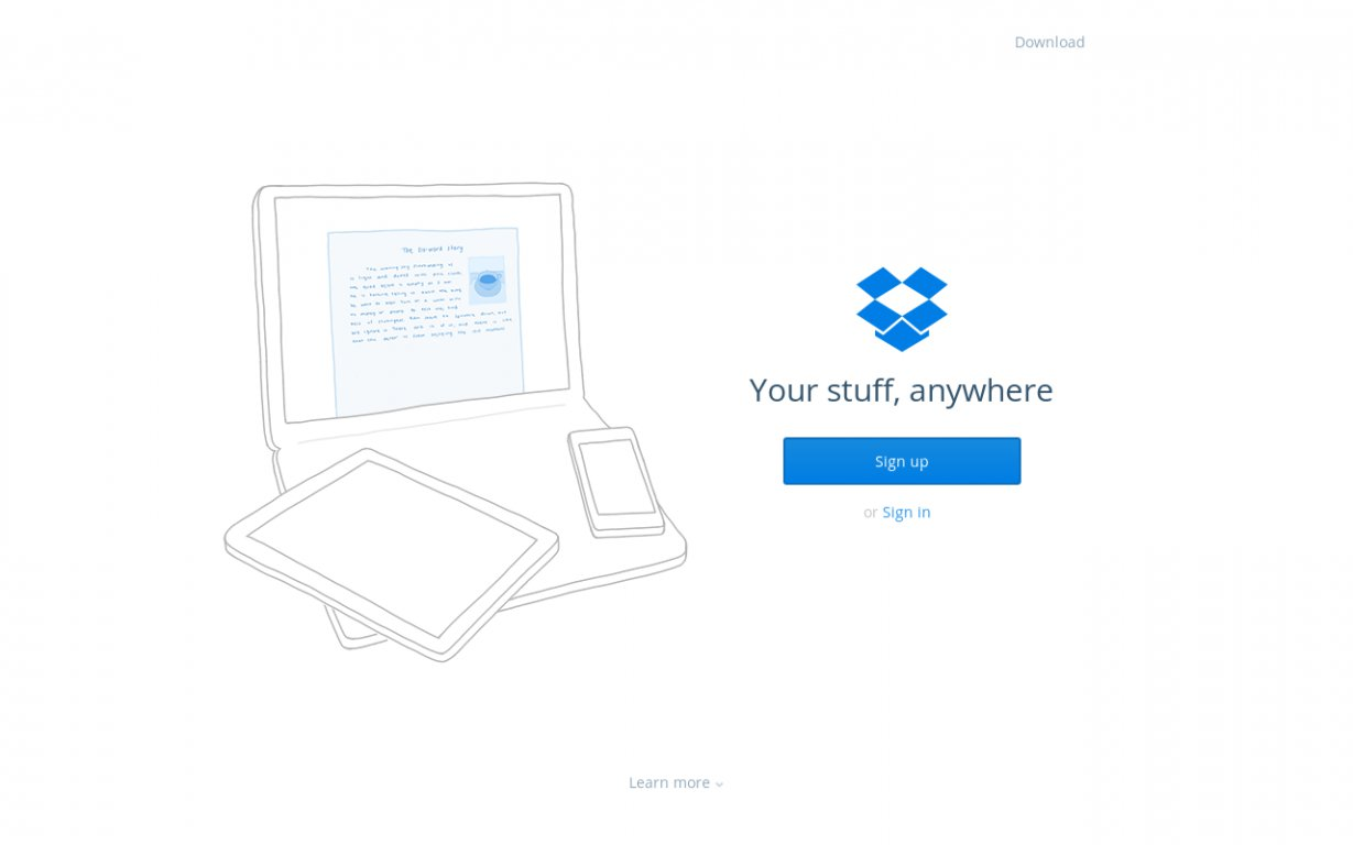 Dropbox Business Copywriting