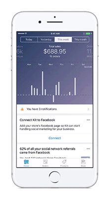 App mobile para lojistas Shopify