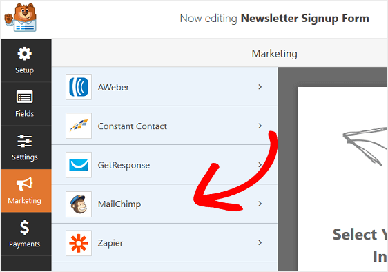 Connect Mailchimp with WPForms