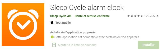 Capture de Sleep Cycle
