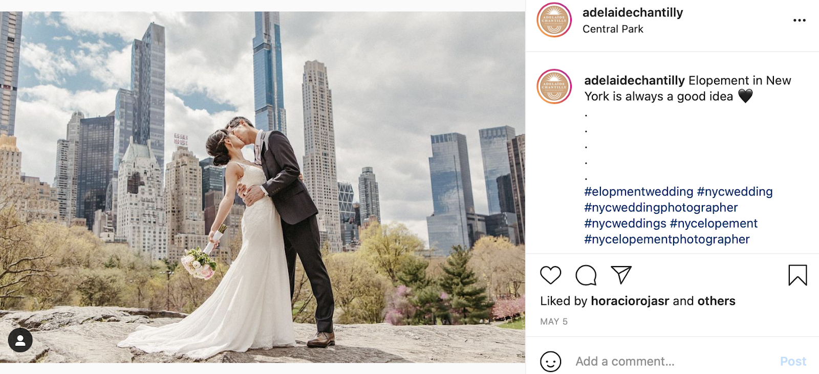 elopement wedding photo in New York