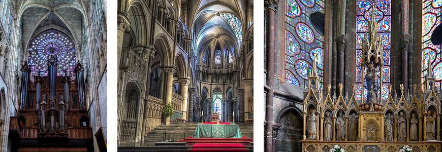 Catedrales de Le Mans, Tours, Canterbury