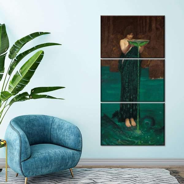 Circe Invidiosa Multi Panel Canvas Wall Art