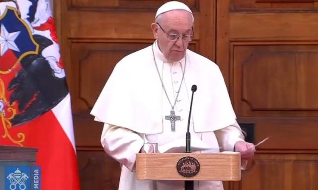 Diễn từ của Đức Thánh Cha trước các giới chức Chính phủ Chile và ngoại giao đoàn