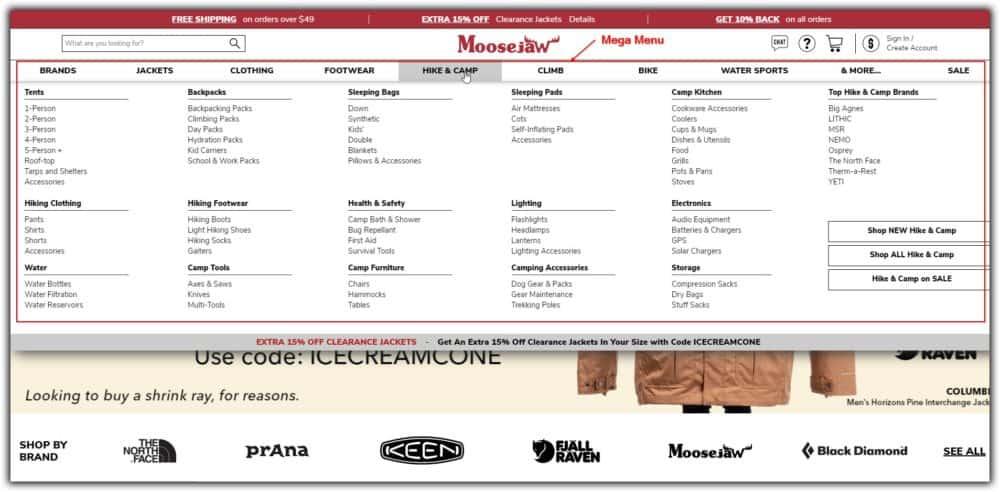 Como estruturar um site |  Mega Menu |  B-SeenOnTop