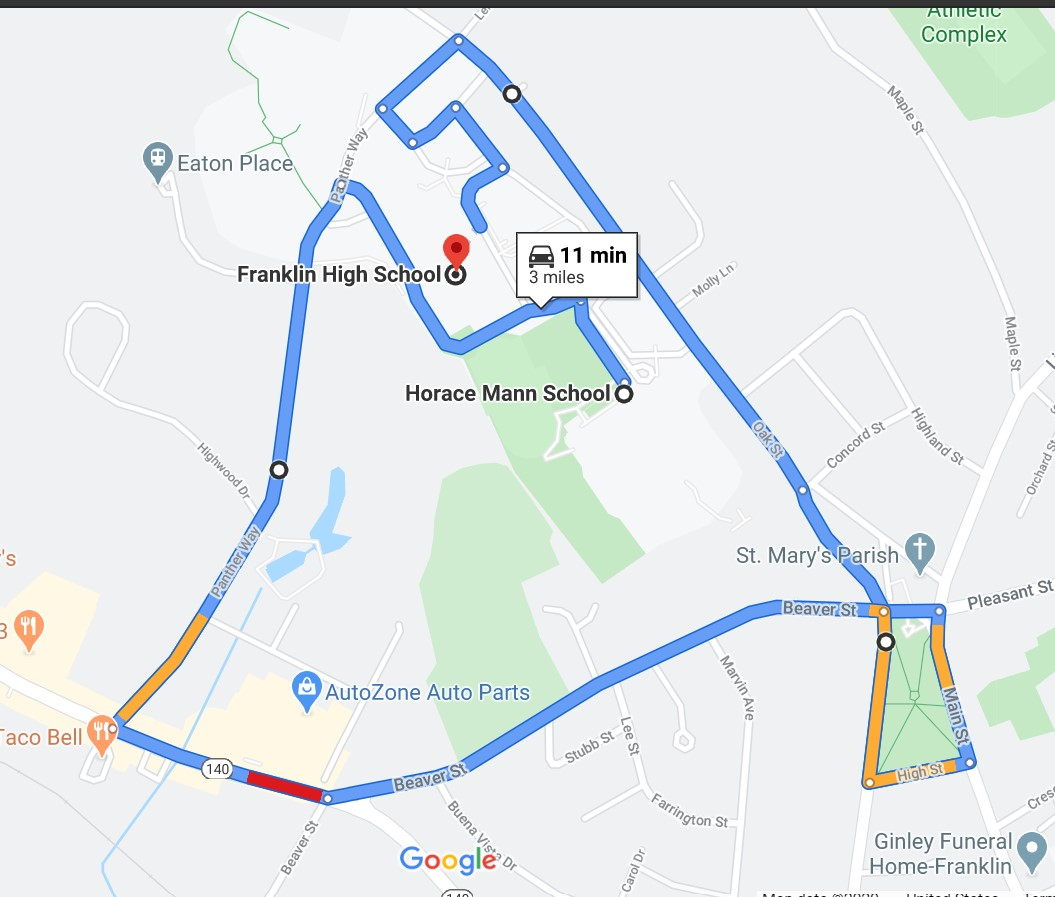 Horace Mann Parade Route: