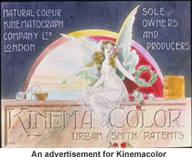 An advertisement for Kinemacolor.