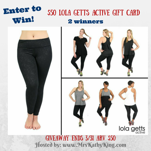 Lola Getts Active Giveaway