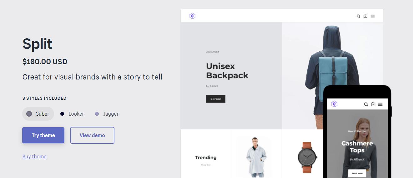 Split - premium Shopify theme