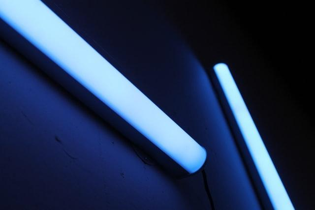 UV light fixtures hanging on the wall