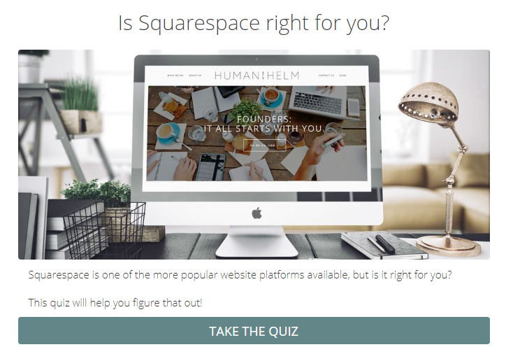 Is Squarespace right for you quiz cover?
