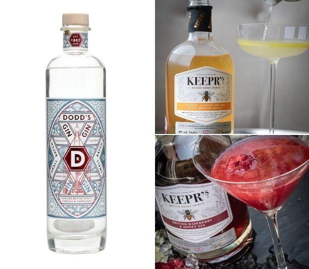 Dodd's Gin, Classic London Dry, British Raspberry & Honey Gin
