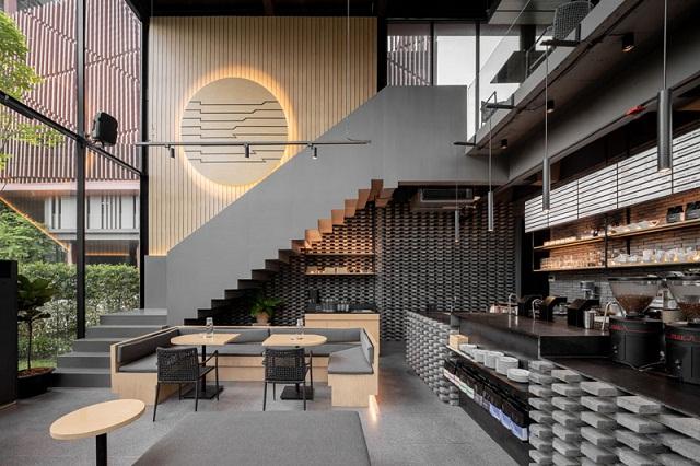 Sắp xếp và nội thất đơn giản trong phong cách hiện đại