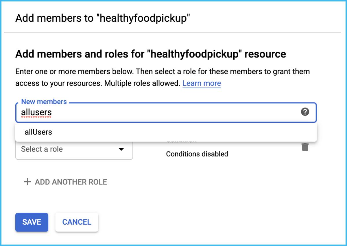 allusers access google cloud