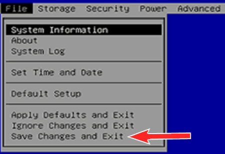 Reboot and Select Proper Boot Device,save changes and exit
