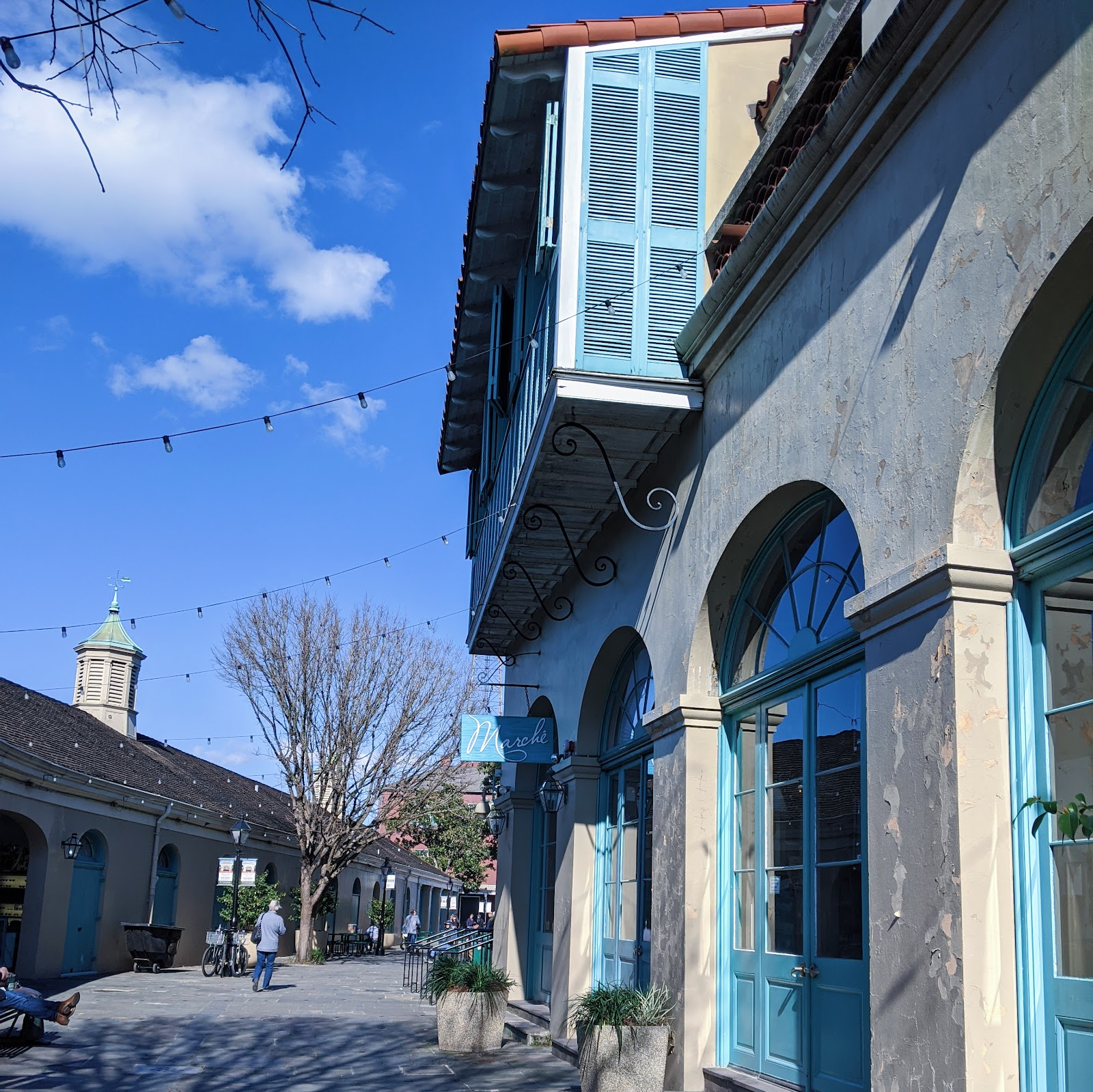 השוק הצרפתי הרובע ניו אורלינס לואיזיאנה לתיירים