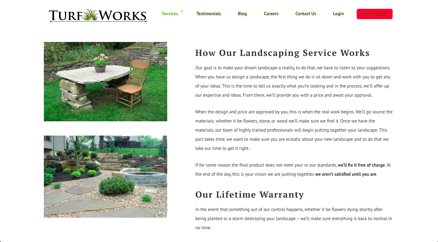 Turf Works: Lawn Care Website