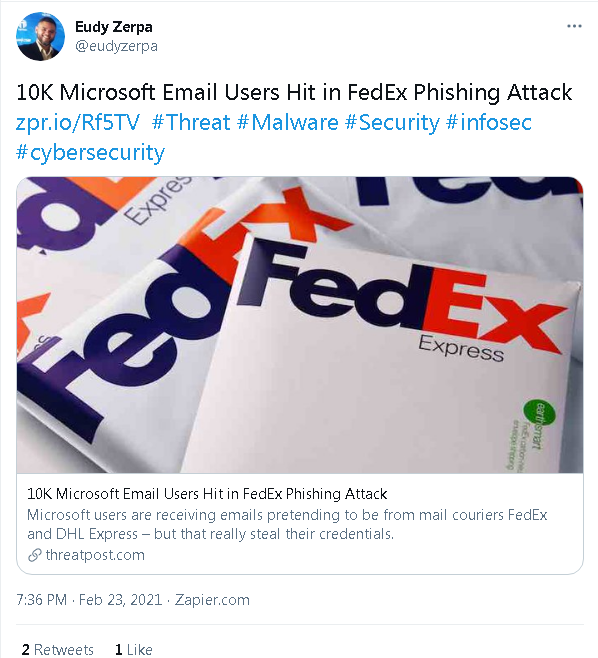 FedEx and DHL Express Phishing Attack Hits 10k Microsoft Email Users 2