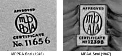 MPPDA and MPAA seals.