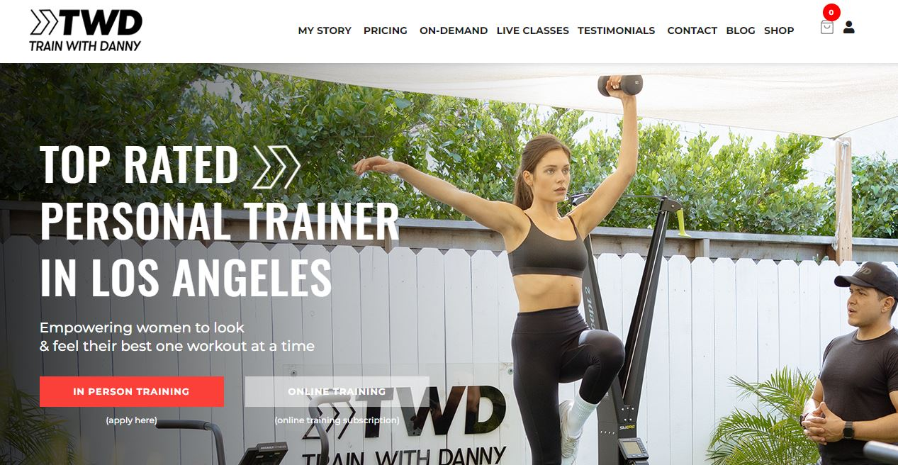 Personal trainer website.