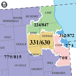 708 Area Code Map Is area code 847 a toll free number