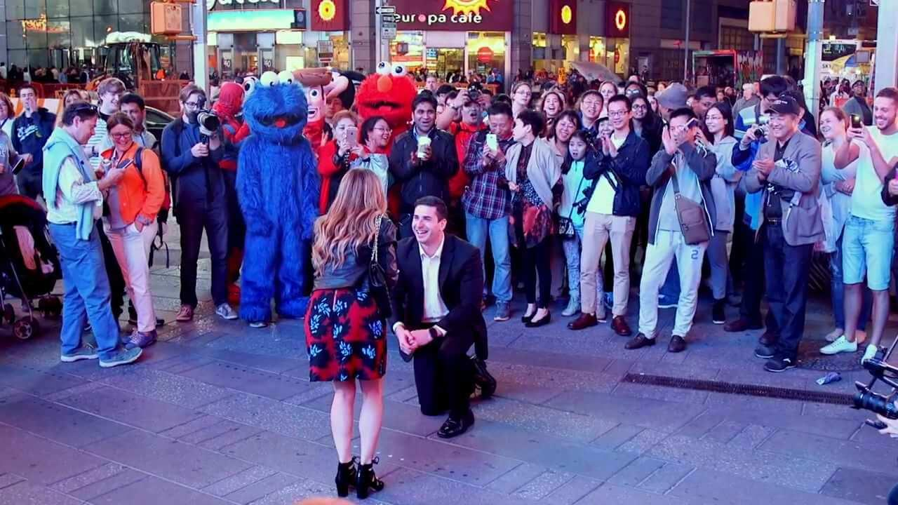The Public Valentine's day proposal