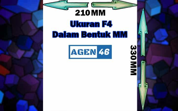 Ukuran F4 Dalam Bentuk MM