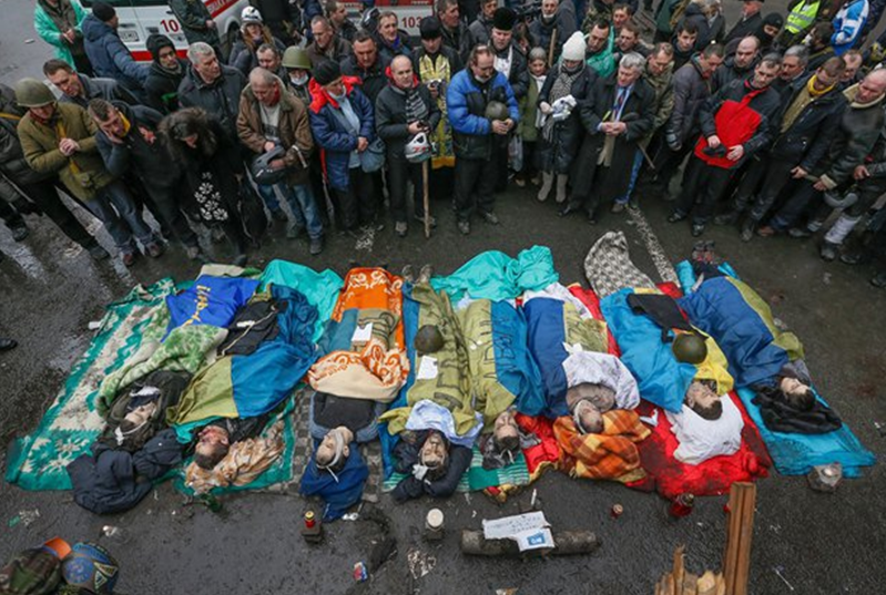 Термін «АТО» виник в Україні іще до початку російсько-української війни. На фото – наслідки «антитерористичної операції», проведеної 18-20 лютого 2014 року в Києві (фото з відкритих джерел)