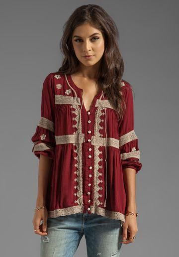 Free People Iris Boho Top in Deep Cranberry | REVOLVE | Boho tops, Boho  fashion, Boho chic fashion