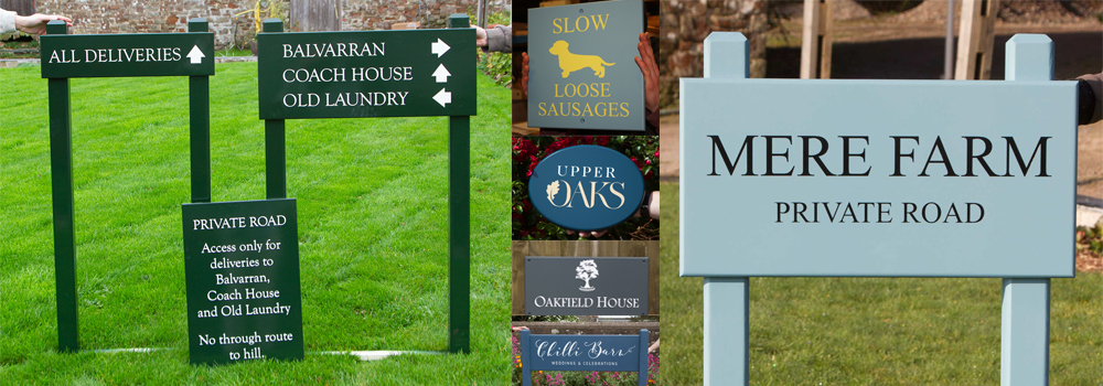 Enjoy a range of high-quality painted wooden signs from The Sign Maker for your farm or estate.