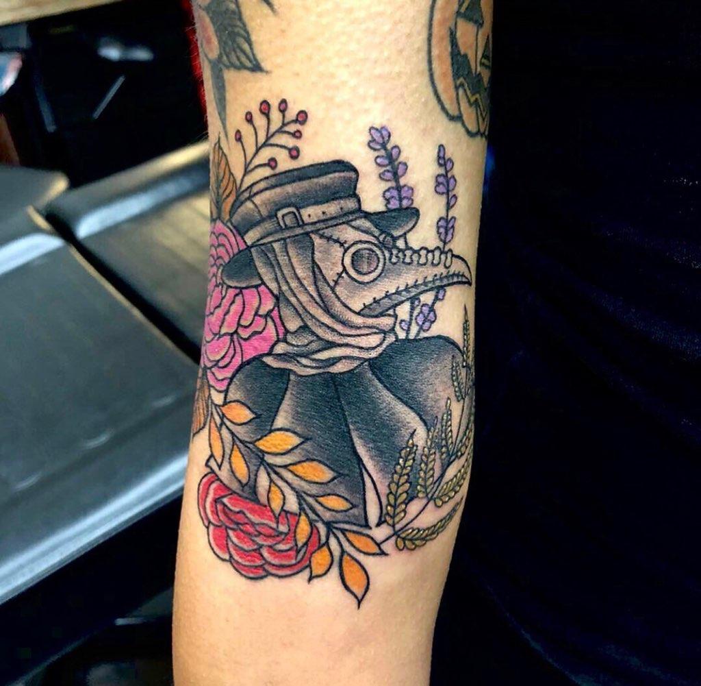2020 plague doctor tattoo
