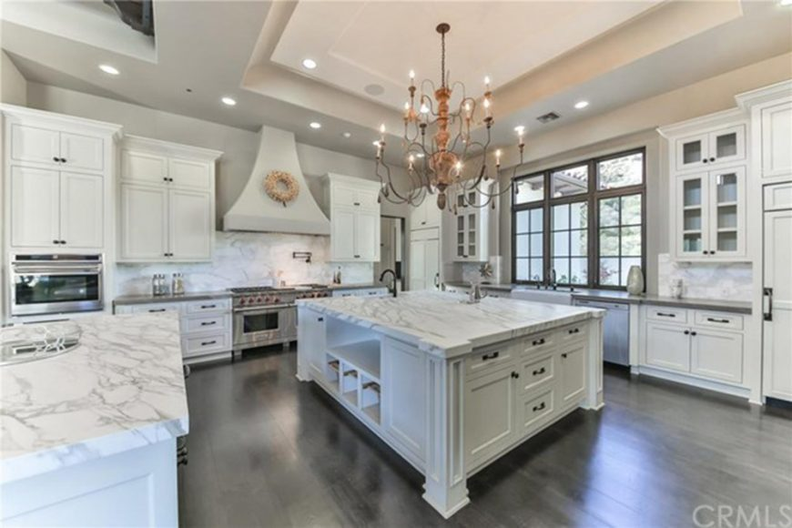 Large, luxurious celebrity kitchen