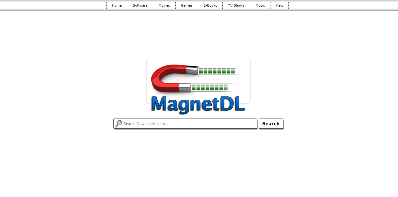 MagnetDL Torrent Site