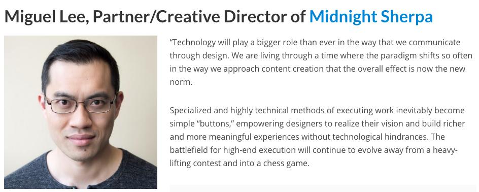 nhận định của Miguel Lee về thiết kế đồ họa trong tương lai