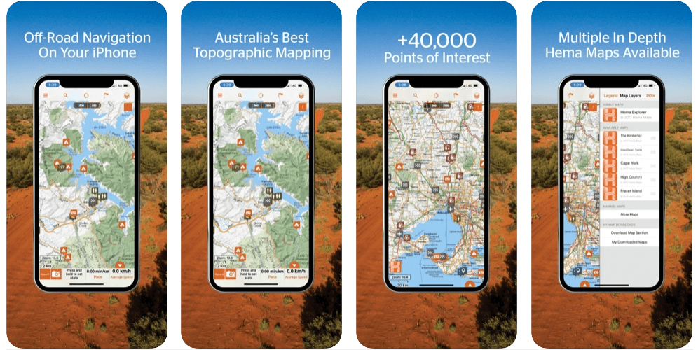 Hema Explorer App Best off-road GPS app for Android and IOS in 2021