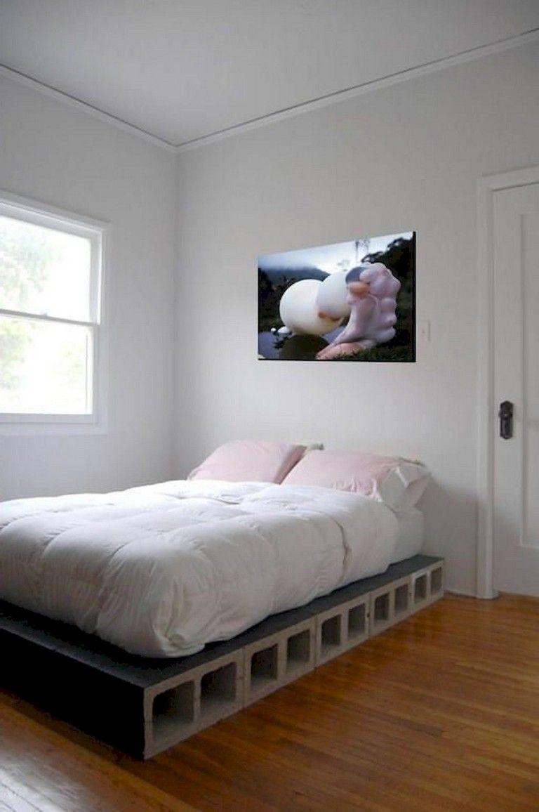 DIY Concrete Block Bed Frame Ideas